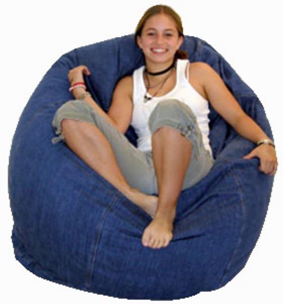 Кресло груша из старых джинсов своими руками 26